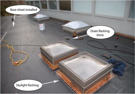 Flat Roof Skylight Flashing Peel And Stick Rubber