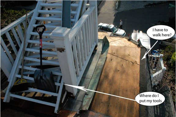 Roof Edge Slippery Preparing For Rubber Roof Installation