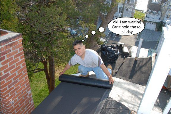 Removal And Installation Of A Flat Roof That Was Very