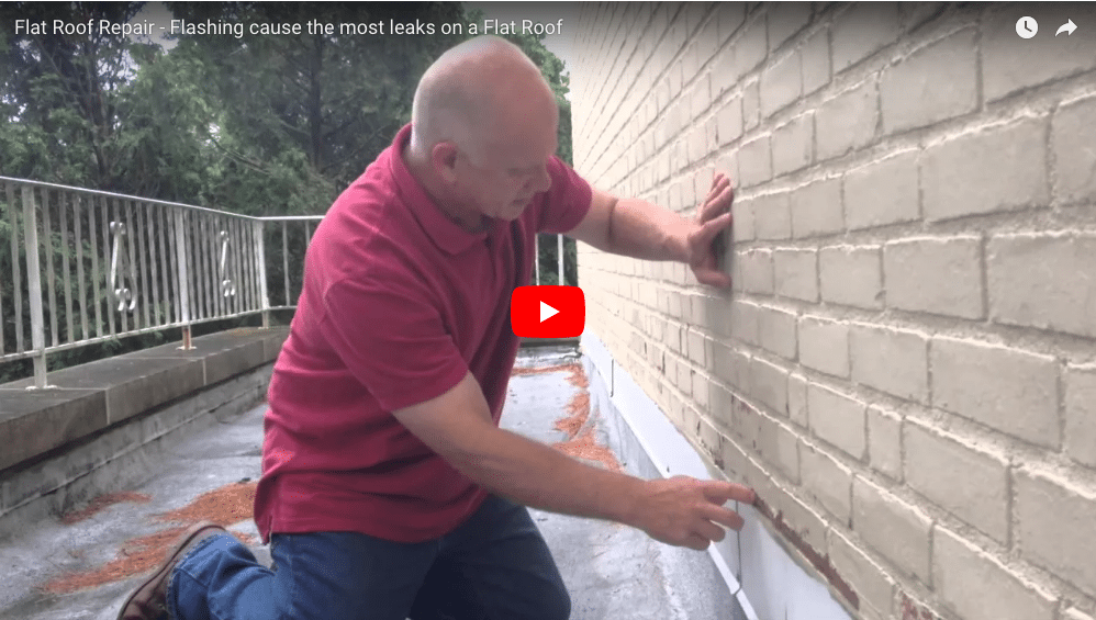 Flat Roof repair - flashing on a roof