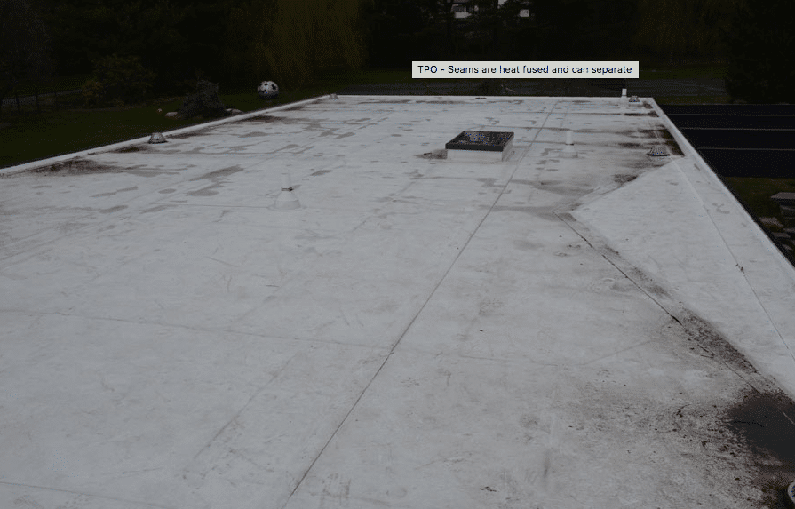 Rubber Membrane Flat Roof Three Rubber Roofs Flat Roof