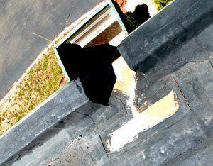 Scupper on an EPDM Rubber Roof - Flat Roof Repair - New Hampshire
