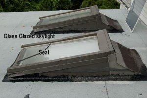 Glass glazed skylight - Skylight Flashing on a Flat Roof - Roofing Repairs - North Carolina