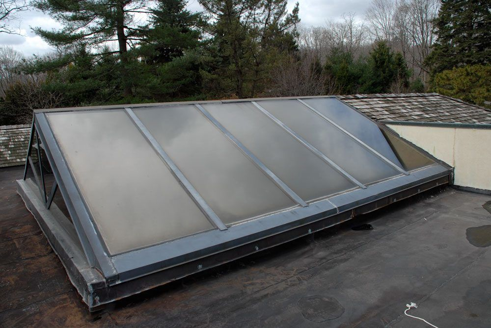 leaks and skylights are part of flat roof problems