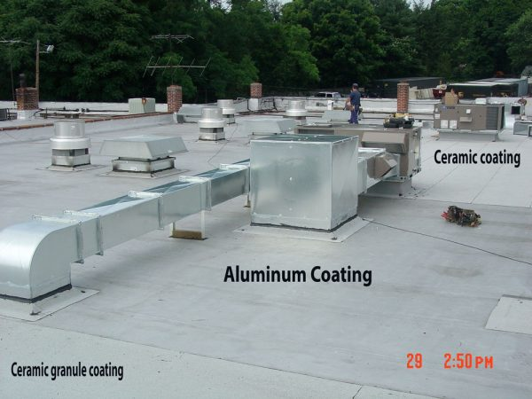 Silver Paint or Aluminum asphalt paint is a coating tat is applied over rubber roofs to protect against ultraviolet rays