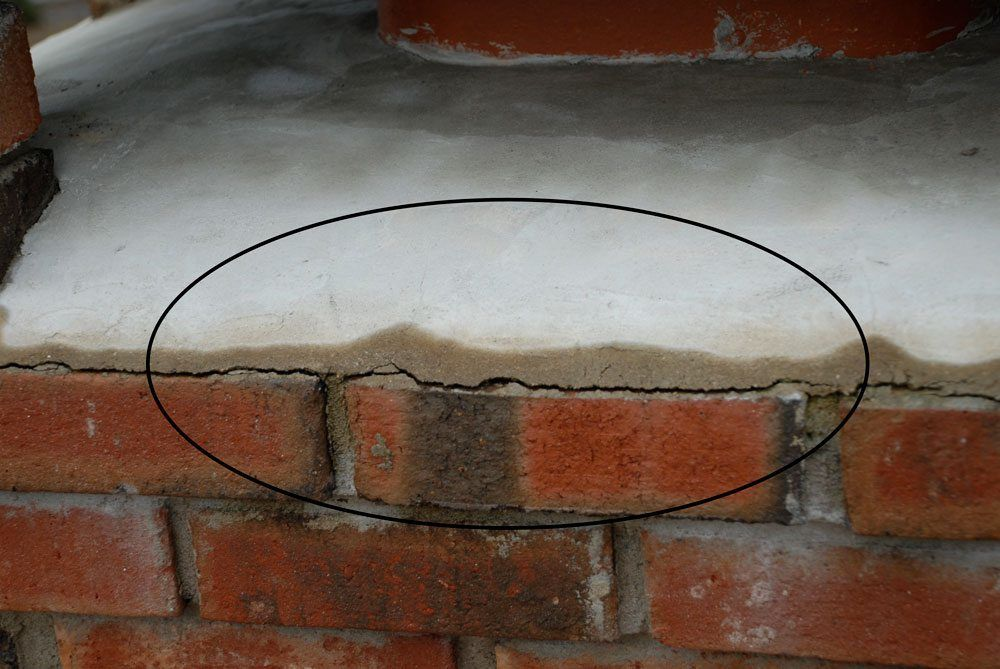 Newer Brick Chimney with cracked crown
