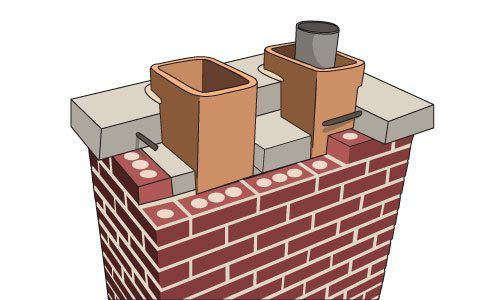 The cement slab shown in image is what a cement slab should look like. This is not the case with most chimneys.