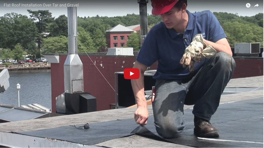 Watch this video on a 2 Ply Torch Down Rubber membrane roof