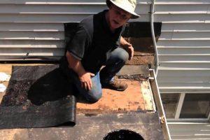 Making a scupper drain
