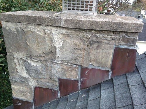 Chimney was sealed and repaired. Chimney Flashing Repair - Pennsylvania