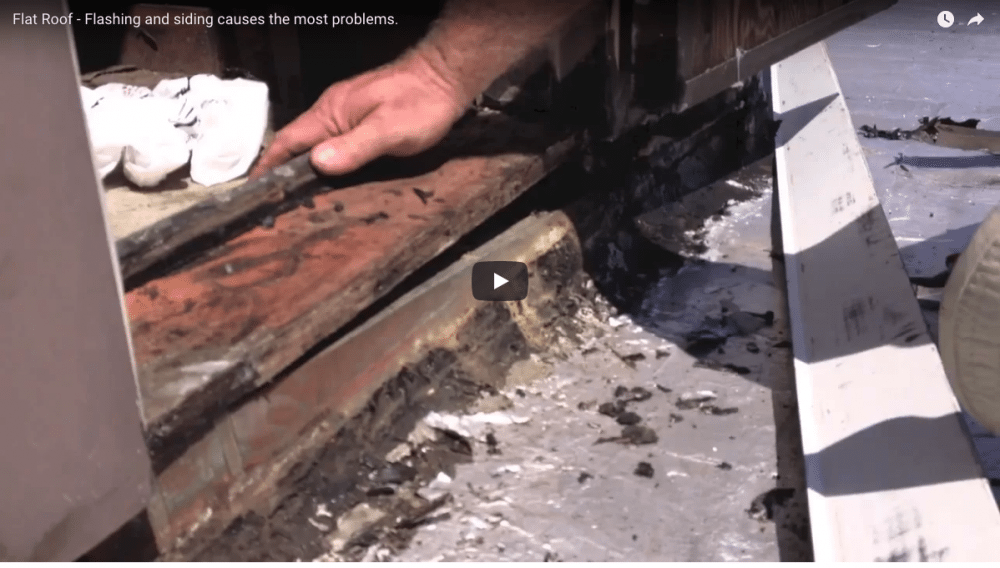 Flat Roof Repairs - Door sill and flashing