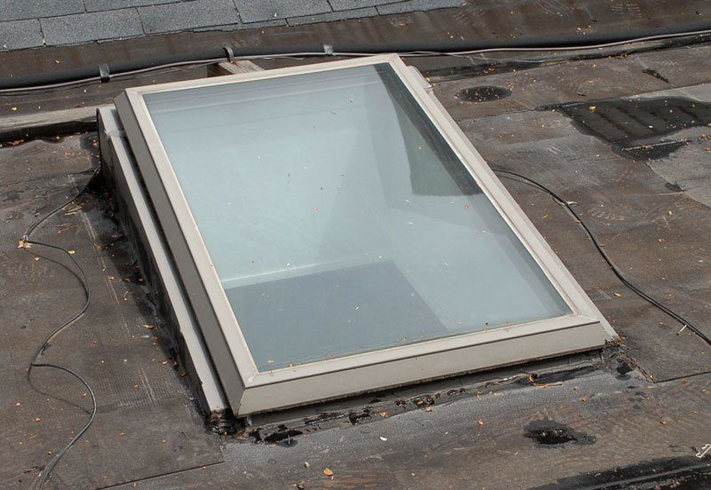 This Angled curb skylight is a perfect example of the correct way of installing on a flat roof