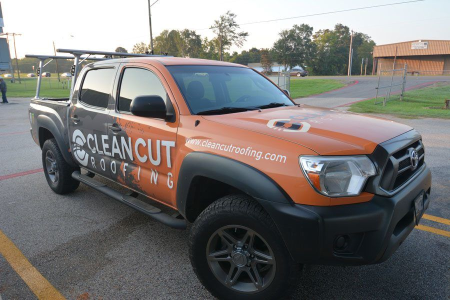 Clean Cut Roofing Truck - Roofing Contractor Longview TX
