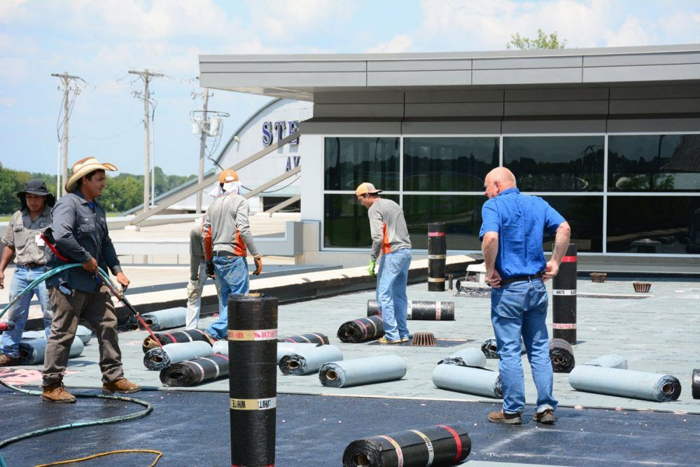 Commercial Flat Roof at East Texas Regional Airport - Roofing Contractor Longview TX