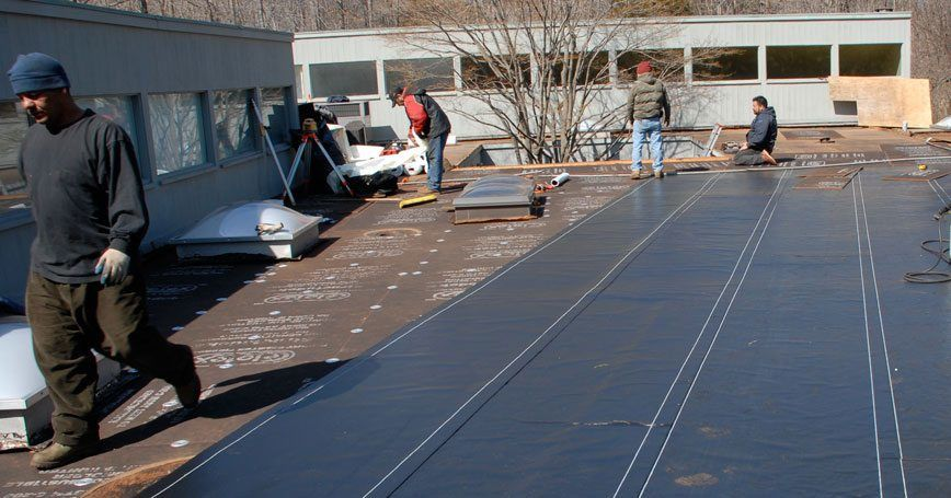 Flat-Roof-Installation