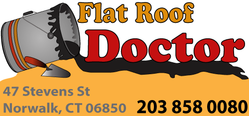 Flat Roof Doctor logo and Contact information