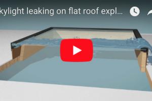 Skylight gasket causing the leak