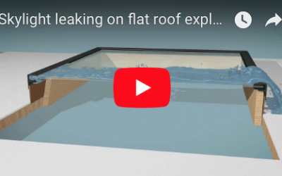 Skylight Leaks & Repairs on Flat Roofs- Watch Video