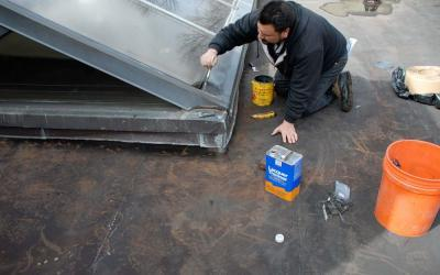 Skylight Leak Repair Flat Roofs