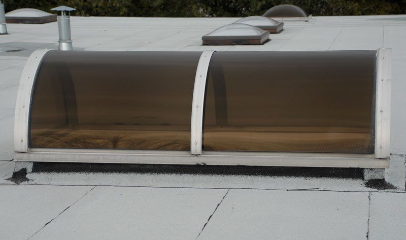 This is a Tunnel Skylight - They are very desireable for foyers and installed on flat roofs