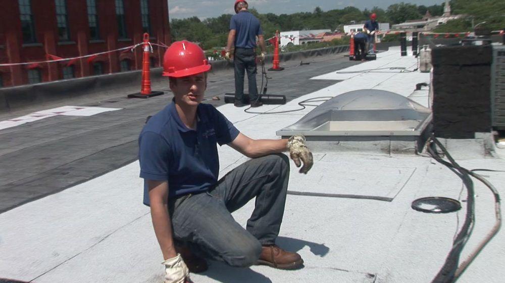 Flat roof leak repairs