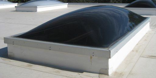 Curb Mount Skylights - These skylights are designed for flat roofs