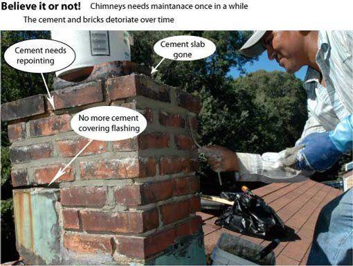 Chimney repairs - Over the years chimneys need some maintenance