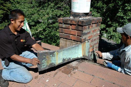 Chimney Flashing Exposed - Brooklyn NY - Flat Roof Repair