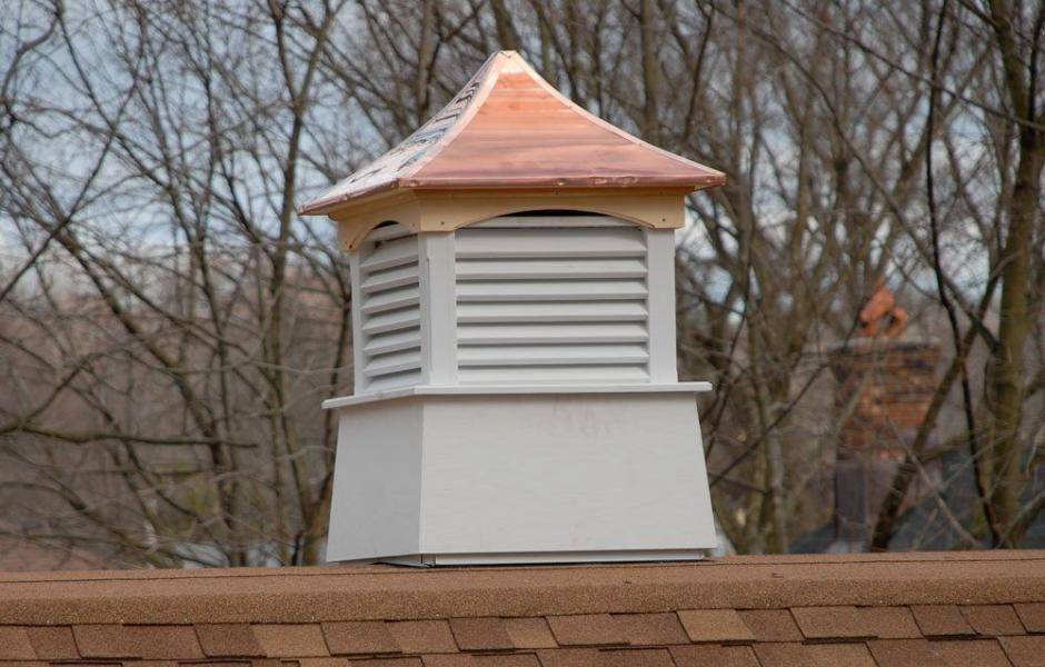 Cupola install on a flat roof