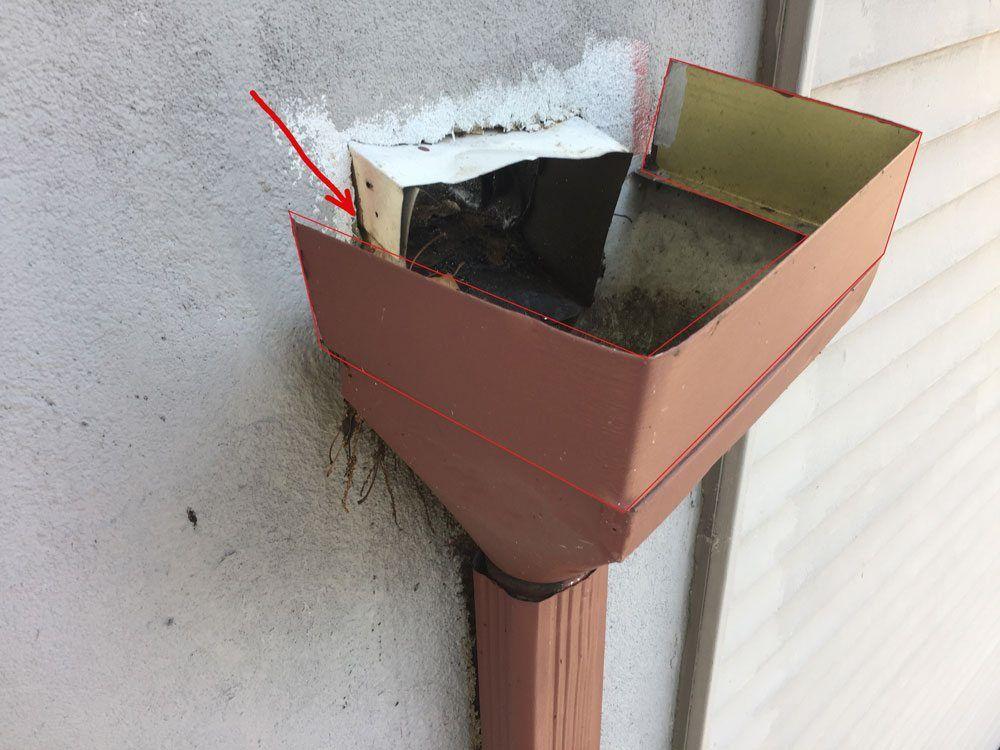 Scuppers Flat Roof Repair Blocked Leader Headers