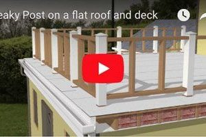 Leaky Post On A Flat Roof And Deck - Greensburg PA - Flat Roof Repair