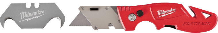 Milwaukee Utility Knife with hook blade for cutting the rubber membrane