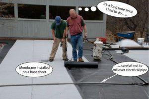 Rubber Membrane on Base Sheet - Greensburg PA - Flat Roof Repair