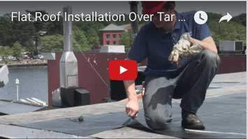 Rubber Roof Installation Over Tar And Gravel - Queens NY - Flat Roof Repair