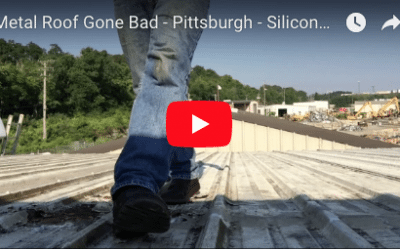 Metal Roof Gone Bad – Video – Pittsburgh – Silicone sealants are the worst