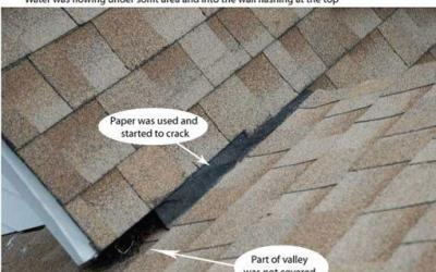 Roof Valley Flashing – Common problem that causes leaks. Darien