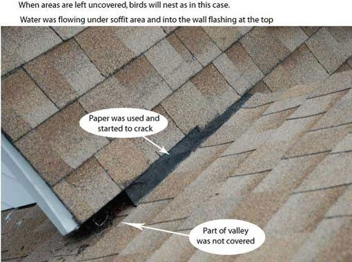 Roof Valley Flashing Common Problem That Causes Leaks