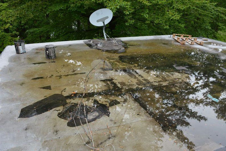 Water pool and patches and silver coating