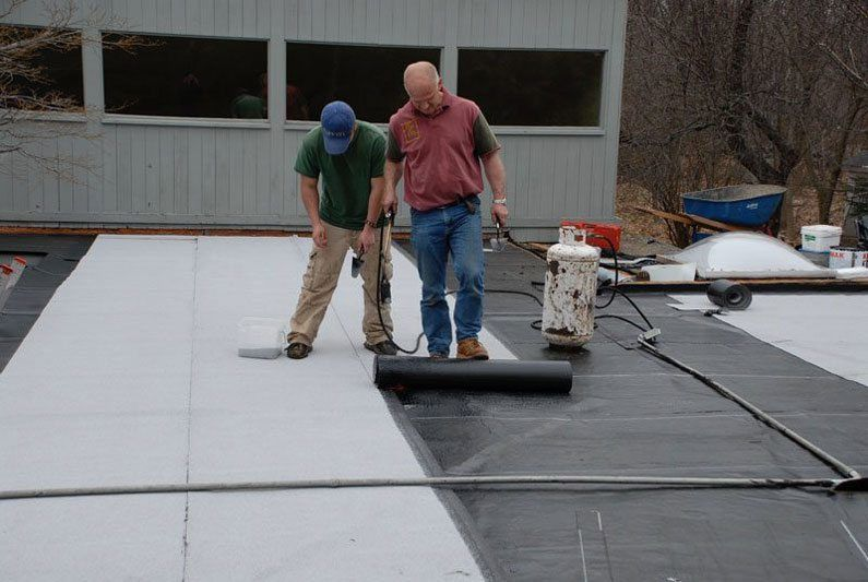 Commercial Rubber Roof - Two Ply Rubber Roof Installed - This is the best roofing system in the industry