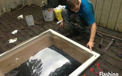 Skylight leaking –  How to make repairs