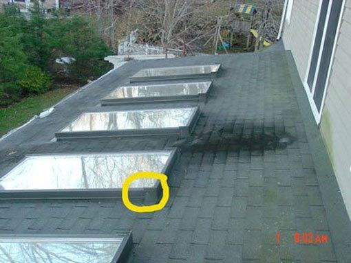 Some skylights are not designed to be on a flat roof