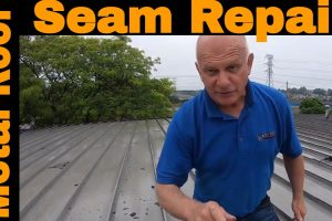 Repairing a metal roof seam