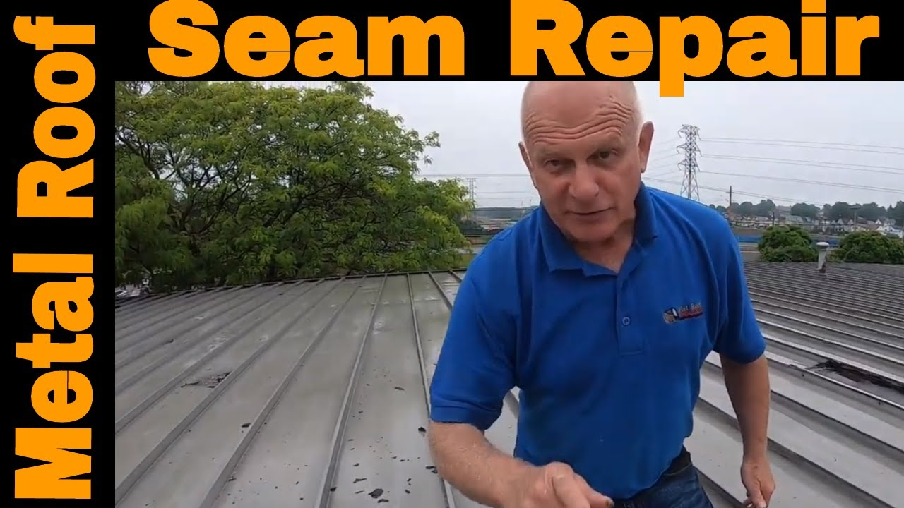 Repairing a metal roof seam