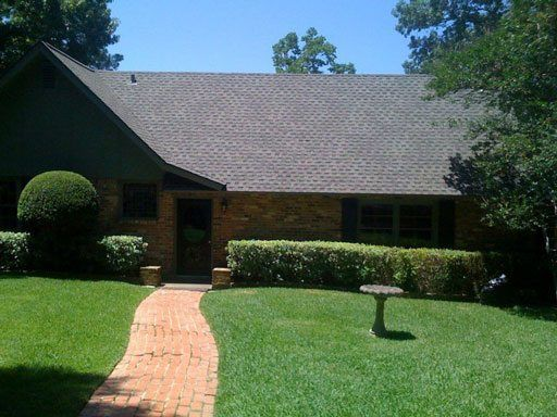 Residential Shingle Roof - Clean Cut Roofing Installed the shingles on this roof in Tyler, Texas