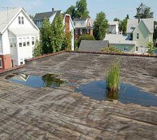 How to Fix a Flat roof - remove debris from drains so water can flow freely