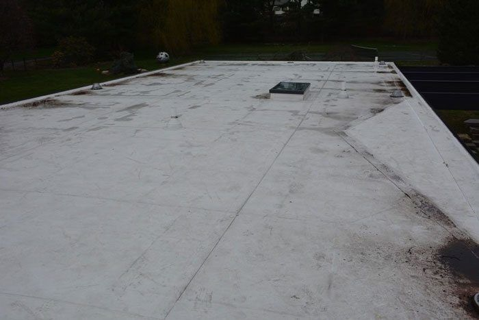 How to fix a Flat Roof TPO Roofing Stamford CT, Greensburg PA, Kilgore TX, Los Angeles CA - this is a TPO Roof that started to leak