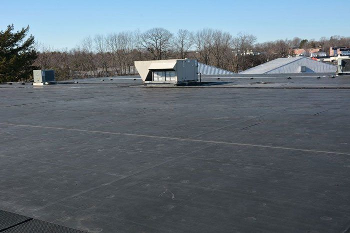EPDM Rubber Roof over a commercial roof