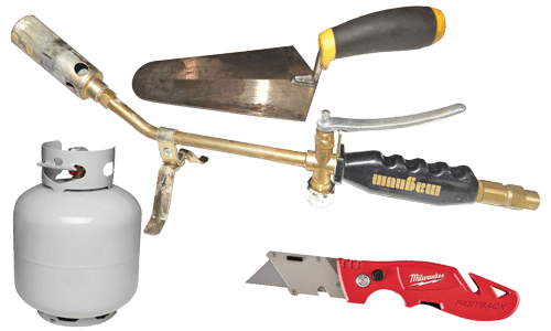 Tools For Torch Down Header Flat Roof Repairs And
