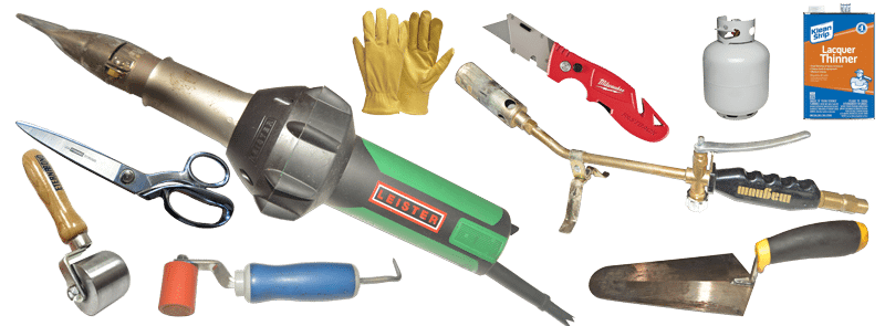 Tools to repair rubber membranes