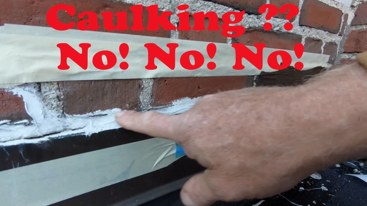 Video on Caulking Don't use it make repairs
